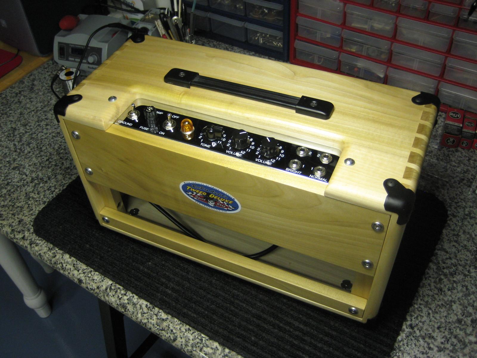 Tweed Deluxe Head Cabinet - Tweed Deluxe 5E3 Speed Shop