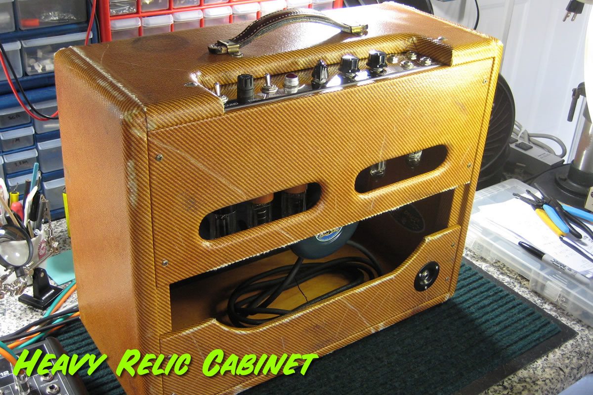 Heavy Relic Tweed Combo Cabinet Rear