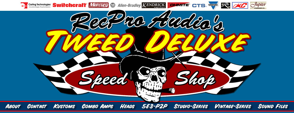 Welcome To RecProAudio's Tweed Deluxe Speed Shop